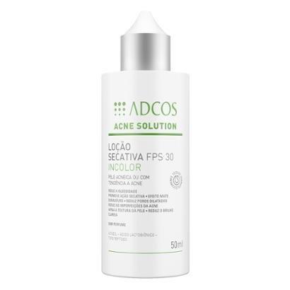 Adcos Acne Solution Loção Secativa Incolor Fps30 50ml