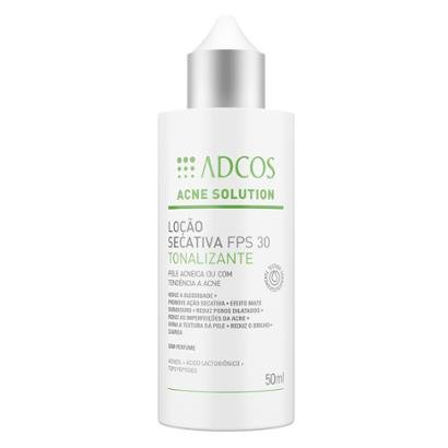 Adcos Acne Solution Loção Secativa Tonalizante Fps30 50ml