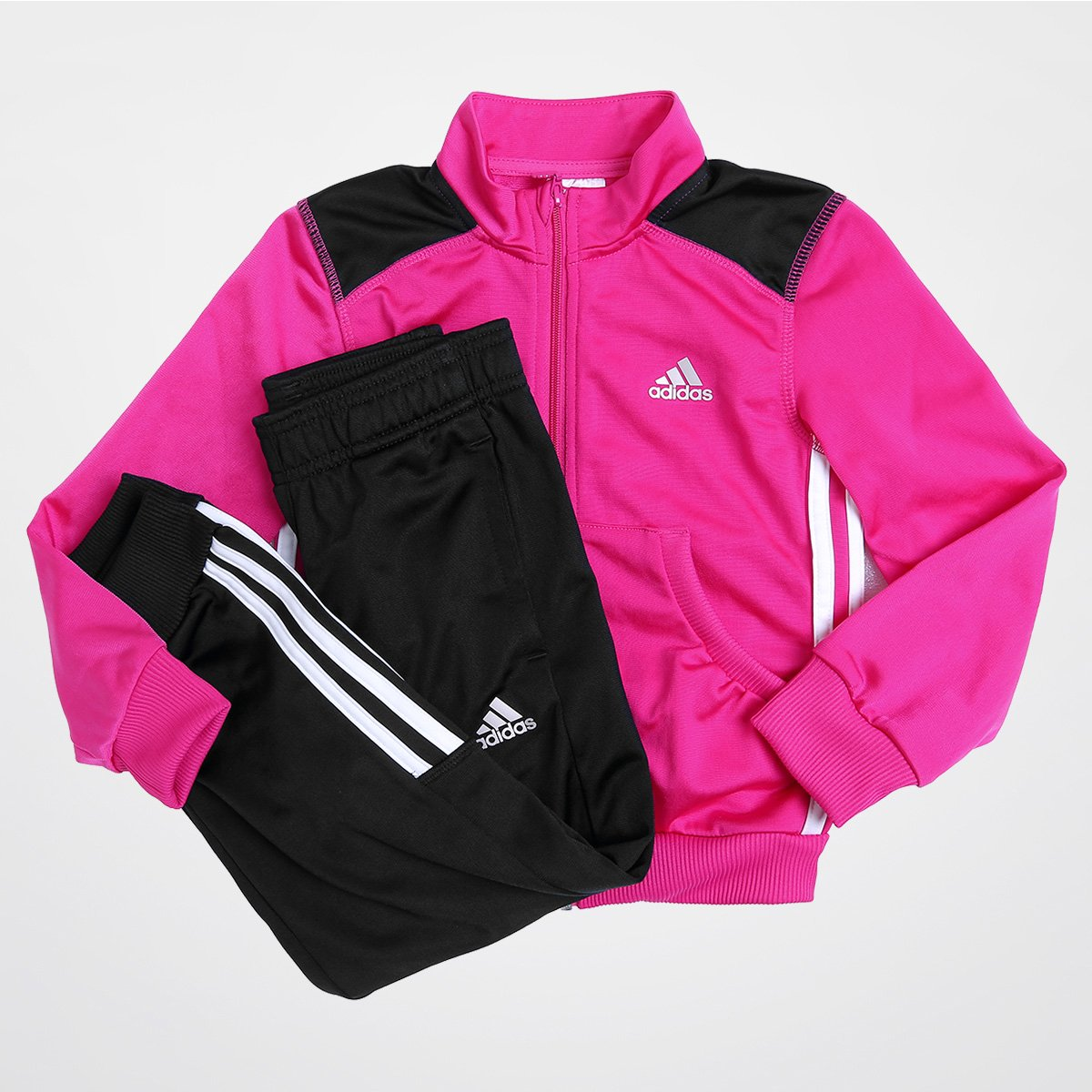 Agasalho Adidas Lg Ess Pes Ts C Infantil - Compre Agora  d5a3b61468caf