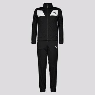 Agasalho Puma Poly Suit Classic Juvenil Preto