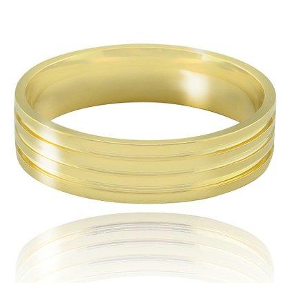 Imagem de Aliança casamento trabalhada em ouro 18K Florença - Masculino