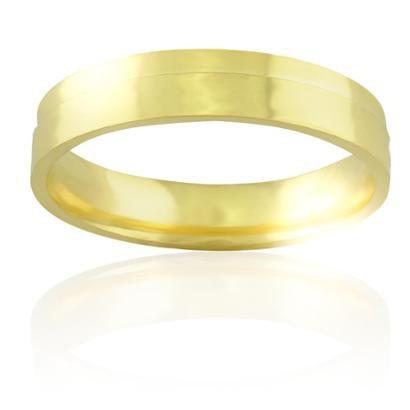 Imagem de Aliança casamento trabalhada em ouro 18K Lisboa - Masculino
