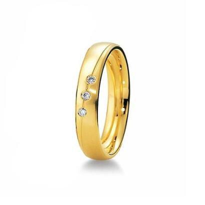 Imagem de Aliança de Casamento Feminina em Ouro 18k 4,5mm Pedras de Zircônia WM Jóias