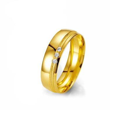 Imagem de Aliança de Casamento Feminina em Ouro 18k 4mm Acabamento Liso e Fosco WM Jóias