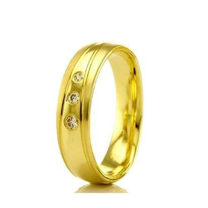 Imagem de Aliança de Casamento Feminina em Ouro 18k 5mm Modelo Liso e Fosco WM Jóias
