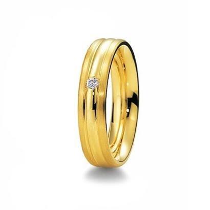 Imagem de Aliança de Casamento Feminina em Ouro 18k 750 5mm com Pedra WM Jóias