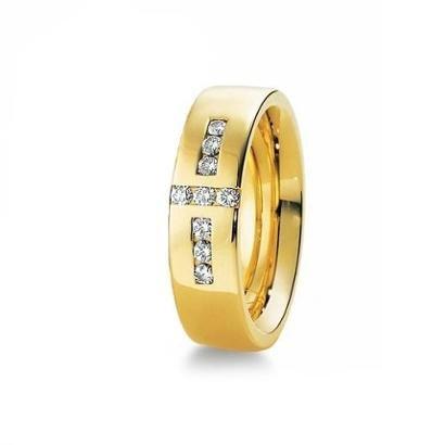 Imagem de Aliança de Casamento Feminina em Ouro 18k 750 6mm com Pedras WM Jóias