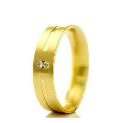 Imagem de Aliança de casamento feminina em Ouro 18k 750 WM Joias 4,8MM Com Zircônia F2299