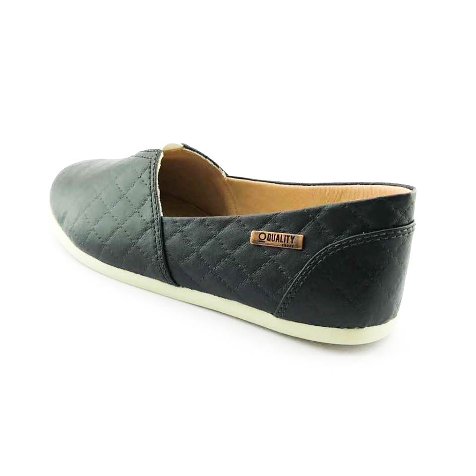 Alpargata Quality Shoes Matelassê Feminina - Preto