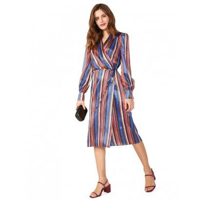 Imagem de Amaro Vestido Wrap De Cetim Estampado
