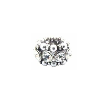 Anel Armazem RR Bijoux cristais prata
