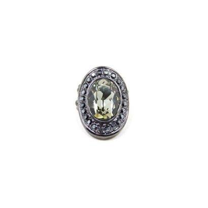 Anel Armazem RR Bijoux cristal oval