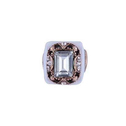 Anel Armazem RR Bijoux Cristal Quadrado