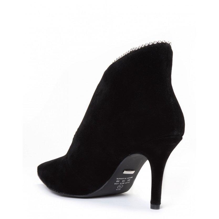 Feminino Preto Ankle Detalhe Boot Ankle Amaro Decote Amaro 7vw4xqFH
