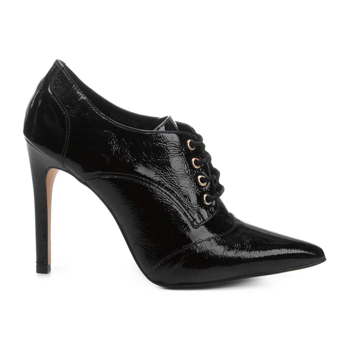 Verniz Preto Boot Ankle Ankle Feminina Couro Boot Jorge Alex z4zYqZ8H
