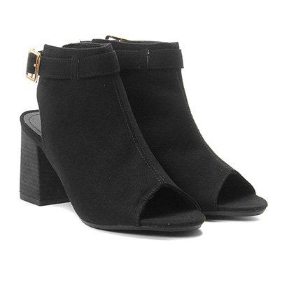 Ankle Boot Suede Zatz Fivela Feminina