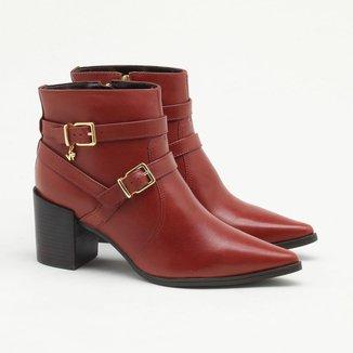 Ankle Boot Verofatto Ariane Fivela Couro