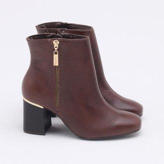 Ankle Boot Via Marte Couro