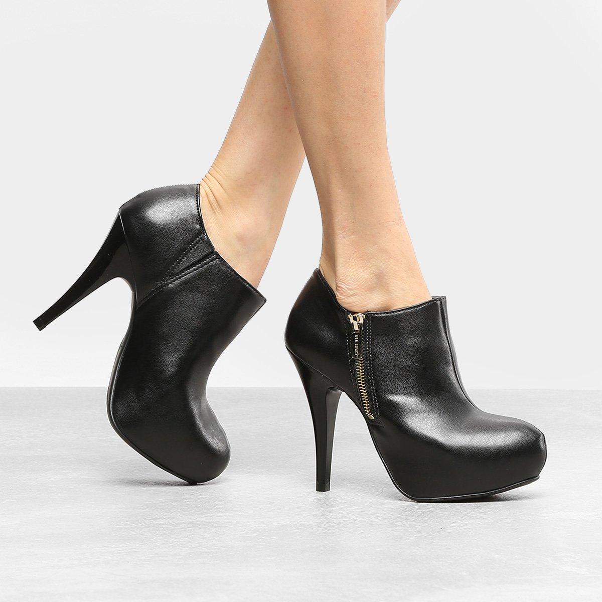 e7fd02ea55 Ankle Boot Via Uno Salto Fino com Meia Pata - Compre Agora