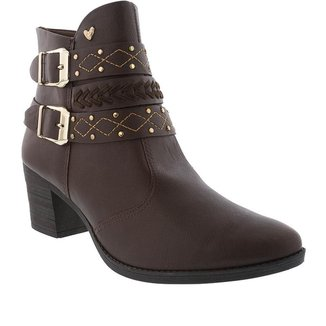 Ankle Boots Mississipi Salto Grosso com Fivela     Feminina