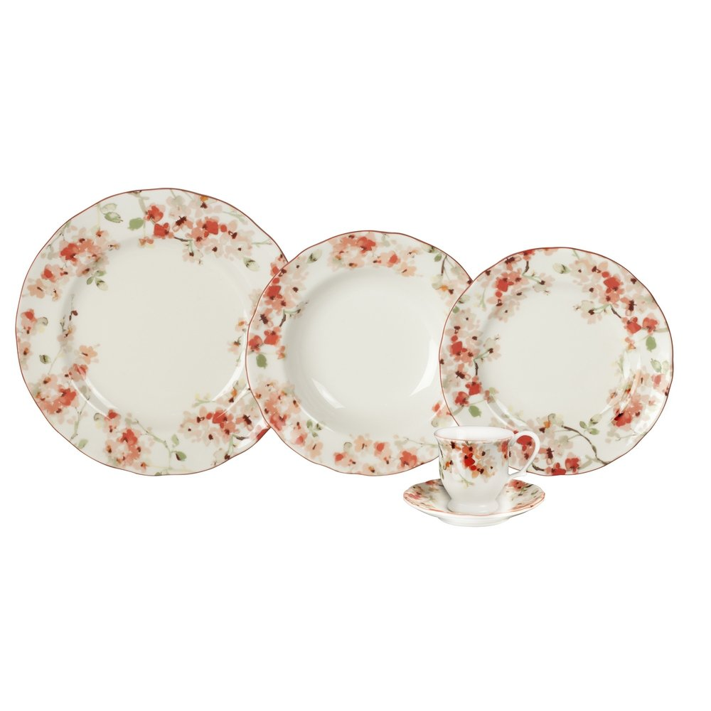 00b28a434 Aparelho de Jantar Porcelana 30 peças Cherry Blossom - Compre Agora |  Zattini