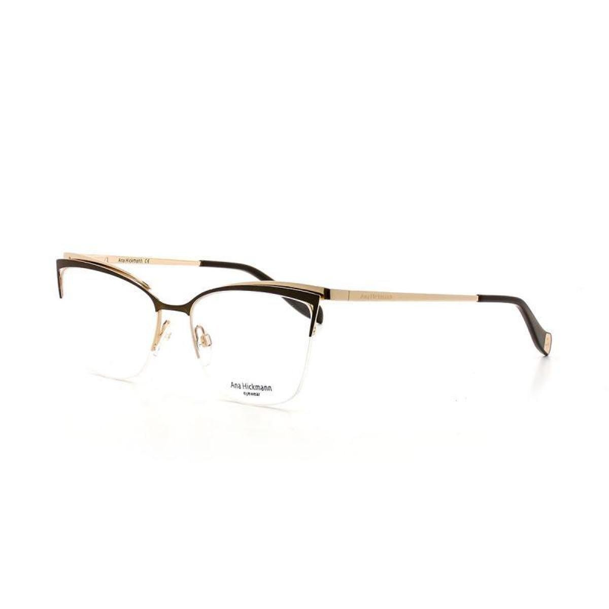 Armação De Óculos De Grau Ana Hickmann 1357 T 54 C 01A Feminino ... 0922b42f8c