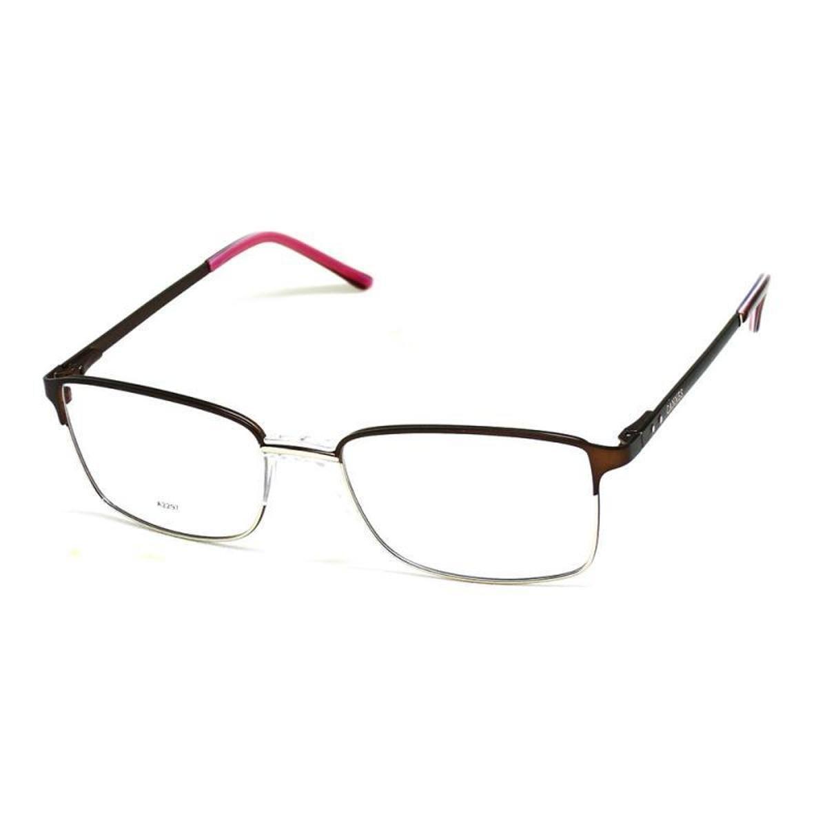 Armação De Óculos De Grau Cannes 2297 T 55 C Masculino - Marrom ... 92cb29ad60