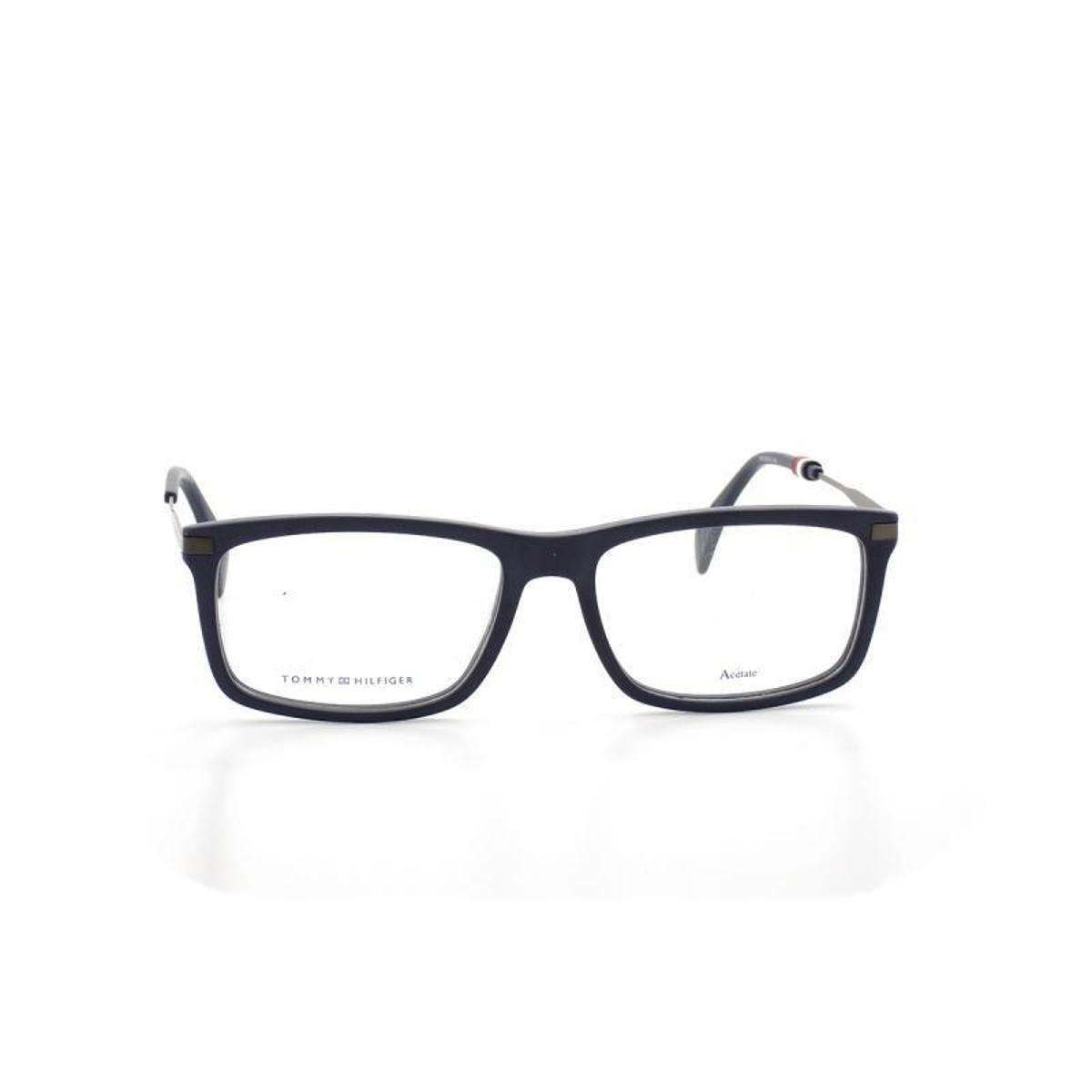 a3be624078fb7 Armação De Óculos De Grau Tommy Hilfiger 1538 T 55 C Fll Marinho ...