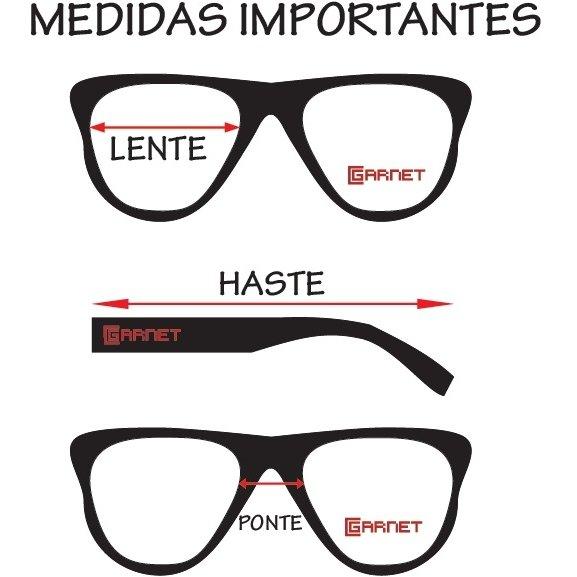Armação Óculos Classic Garnet Original Feminino - Marrom