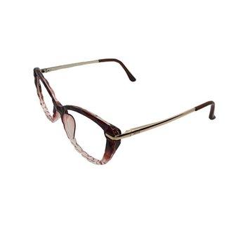 Armação Óculos de Grau Charlotte Gatinho Lapidado Feminino