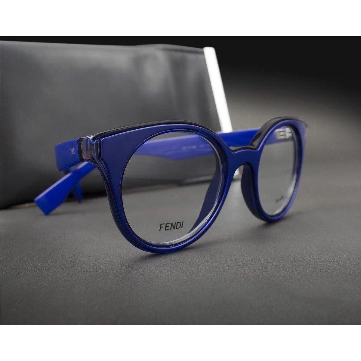 Armação Óculos de Grau Fendi FF0198 L04-47 - Compre Agora   Zattini f6373be7cc