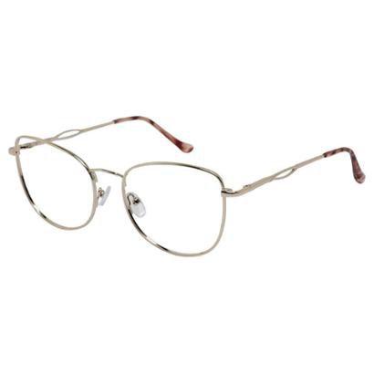 Armação Óculos de Grau Isabela Dias Retrô Metal Redondo