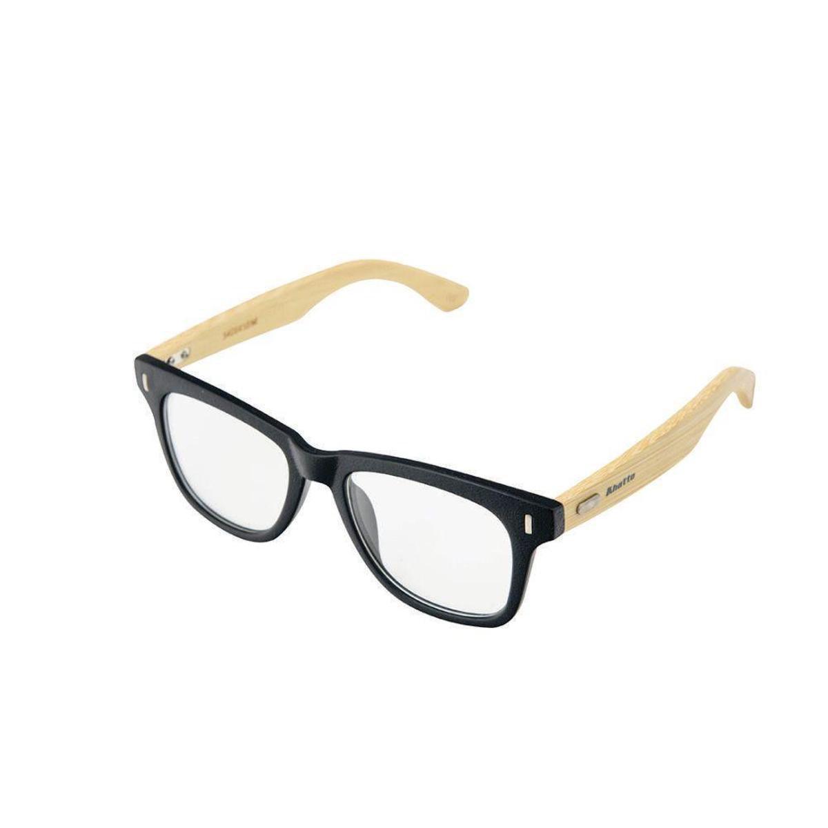 c799075080105 Armação Óculos de Grau Khatto Way Bamboo Feminino - Preto - Compre ...