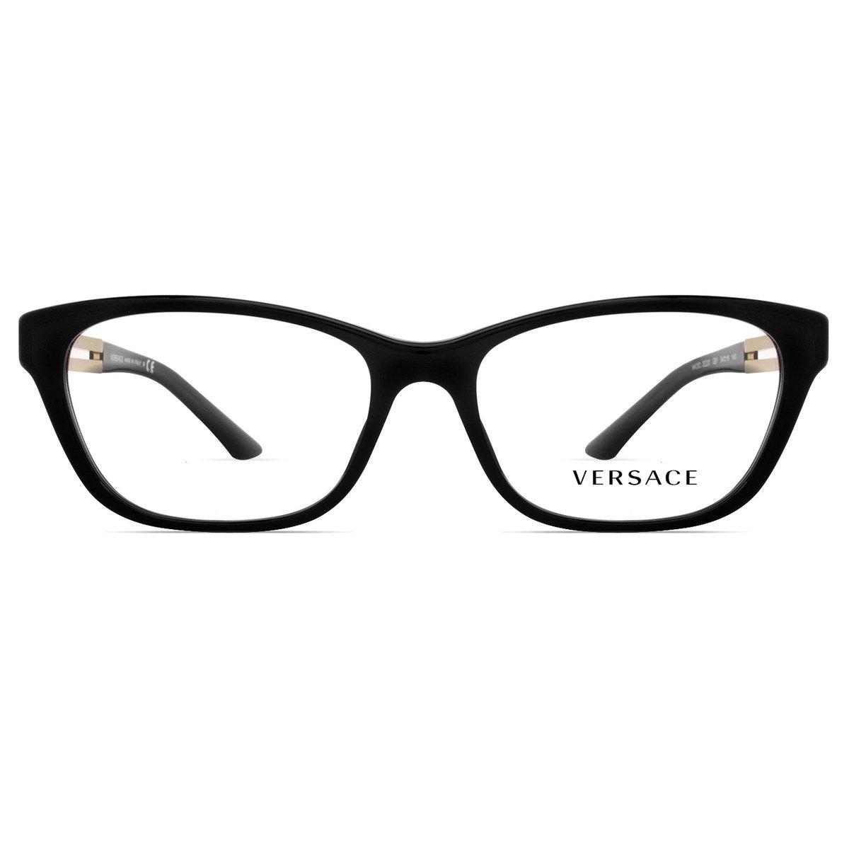 Armação Óculos de Grau Versace VE3220 GB1-54 - Compre Agora   Zattini 69a56b71d1