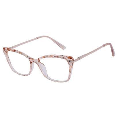 Armação Óculos Feminino Para Grau Retrô Mosaico Gatinho Isabela Dias