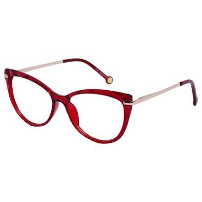 Armação Óculos Para Grau Feminino Retrô Isabela Dias Transparente Mosaico