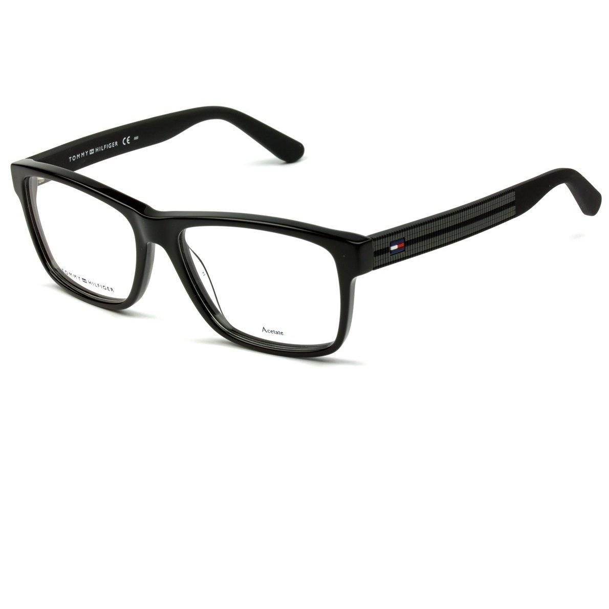 62d507f837ade Armação Óculos Tommy Hilfiger TH1237 KUN - Preto - Compre Agora ...