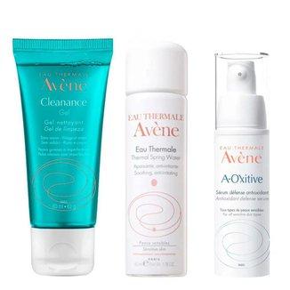Avène Kit - Sérum Facial + Água Termal + Gel de Limpeza Kit
