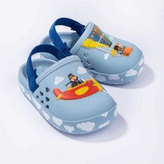 Babuche Infantil Menino Mundo Bita Baby Grendene Kids Azul