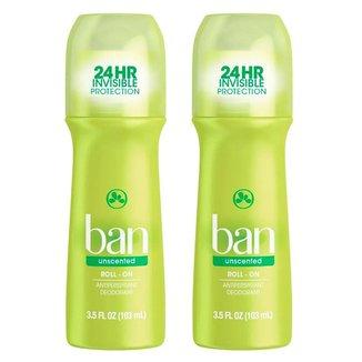 Ban Roll-on Sem Perfume Kit - 2 Desodorantes Kit