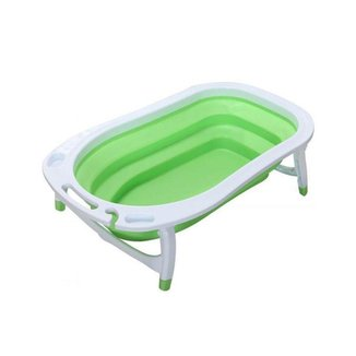 Banheira Para Bebê Portátil Dobrável Flexível Verde