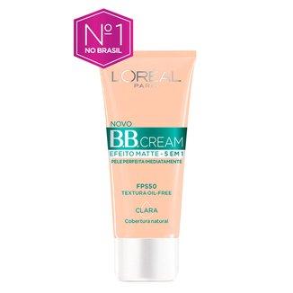 Base Facial BB Cream L'Oréal Paris  Efeito Matte 5 em 1 FPS 50 30g - Clara