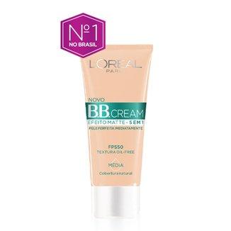 Base Facial BB Cream L'Oréal Paris  Efeito Matte 5 em 1 FPS 50 30g - Média
