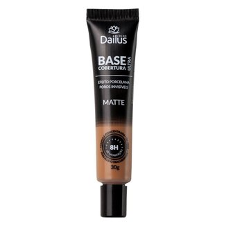 Base Facial Dailus Matte Ultra Cobertura 12 Marrom Medio
