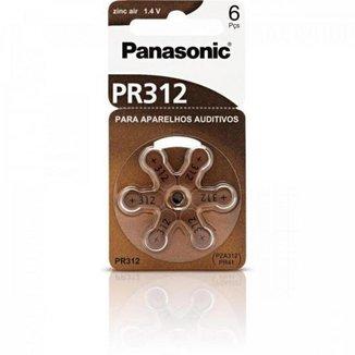 Bateria Auditiva ZINC AIR 1,4V 130MAH com 6 PR-312BR/300