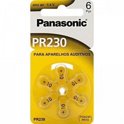 Bateria Auditiva ZINC AIR 1,4V 63MAH com 6 PR-230BR/300