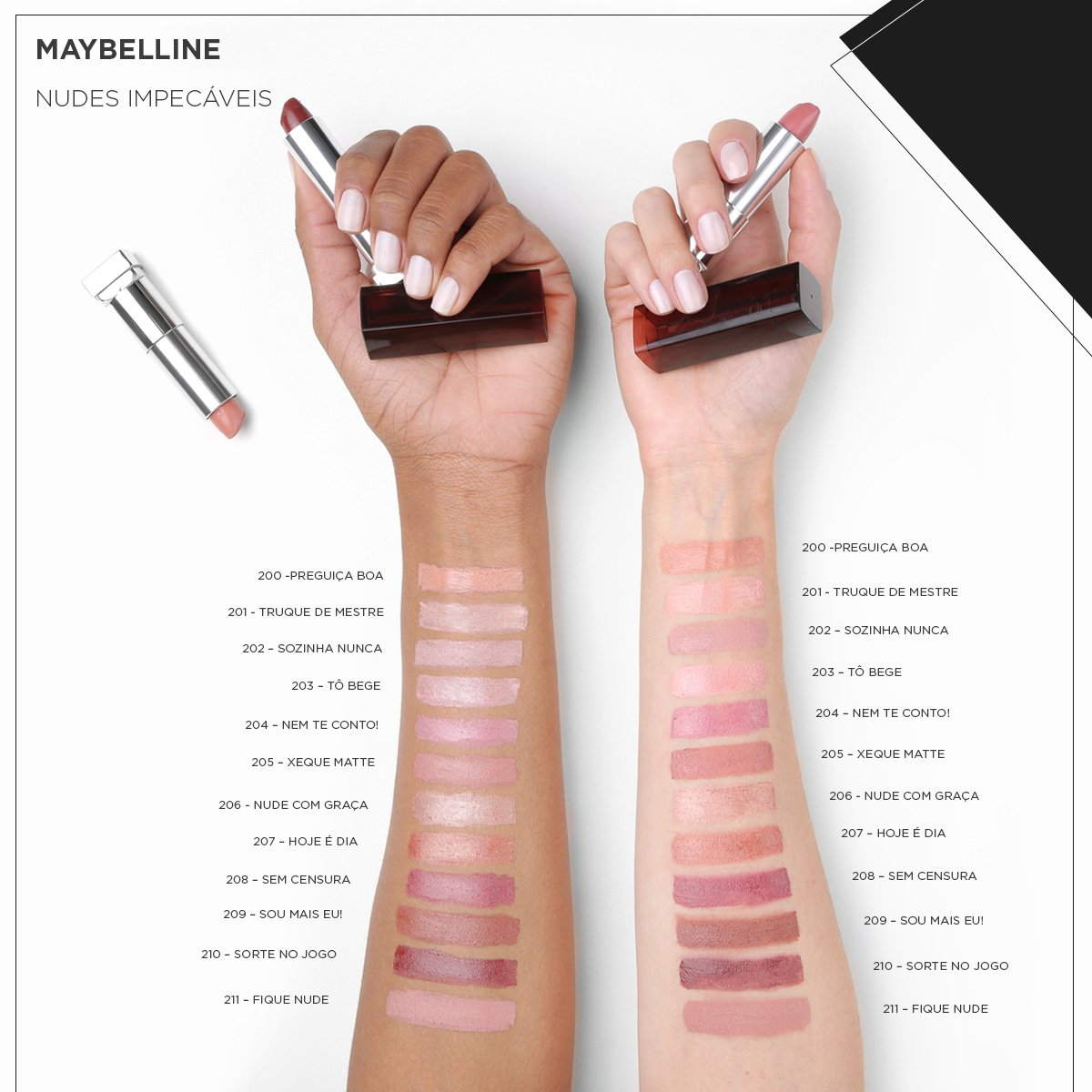 Batom Cremoso Maybelline Color Sensational cor 208 Sem Censura ... e86922d099