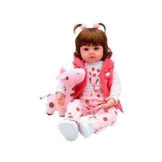 Bebê Reborn Mini Valentina Girafinha Laura Baby