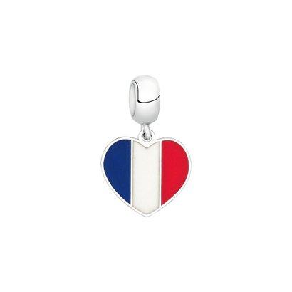 Berloque Bandeira da França de Prata Moments