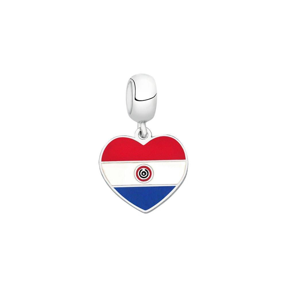 c50267c47cc Berloque Bandeira do Paraguai de Prata Moments - Prata - Compre Agora